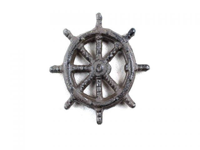 Cast Iron Ship Wheel Bottle Opener 3.75