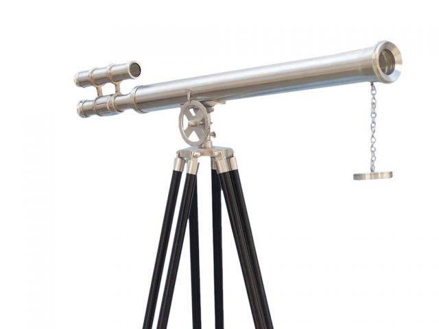 Floor Standing Brushed Nickel Griffith Astro Telescope 65