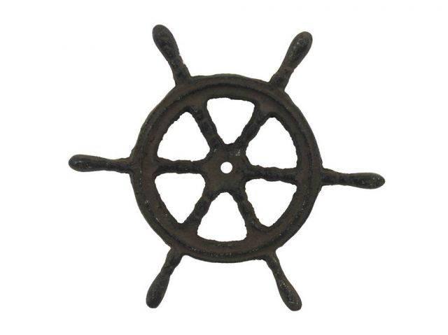 Cast Iron Ship Wheel Trivet 6