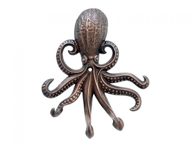 Antique Copper Wall Mounted Octopus Hooks 7