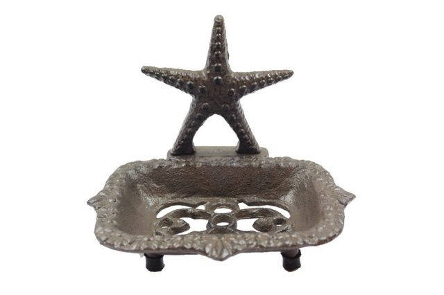 Cast Iron Starfish Soap Dish 6
