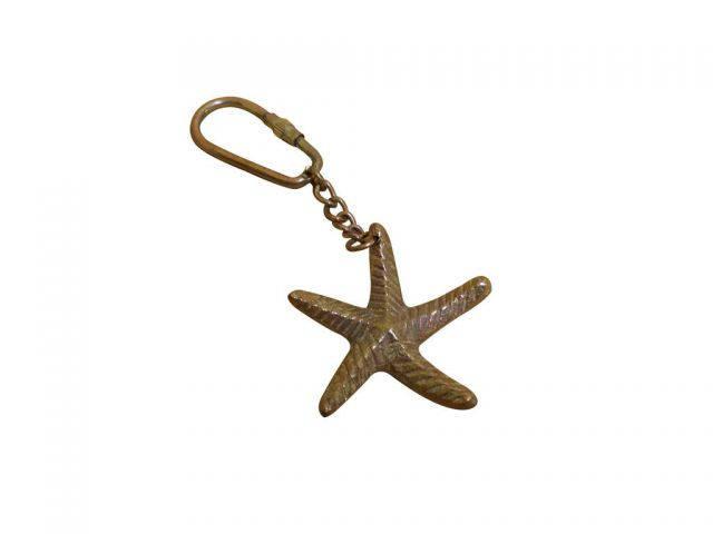 Antique Copper Starfish Key Chain 5