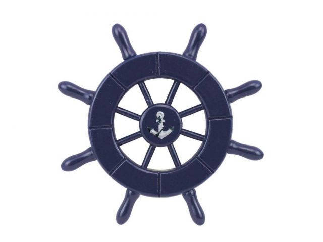 Dark Blue Decorative Ship Wheel With Anchor 6