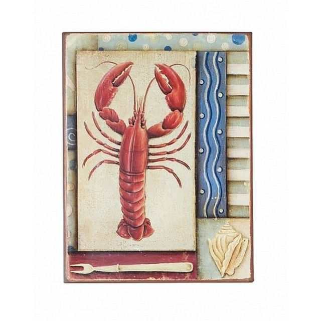 Tin Lobster Sign 14