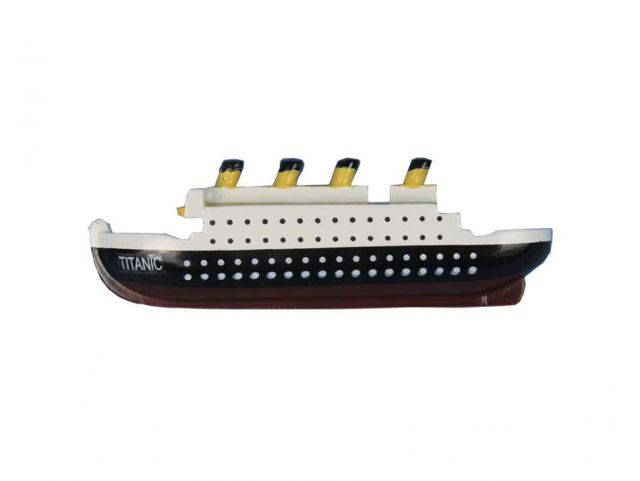 RMS Titanic Wooden Model Ship Decorative Kitchen Magnet 4