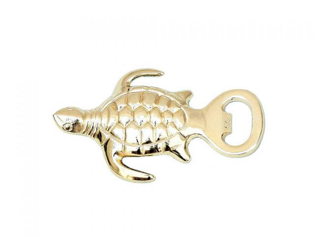 Gold Finish Turtle Bottle Opener 5