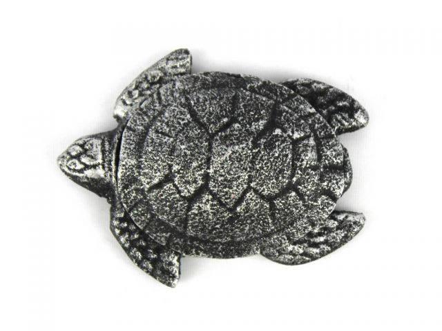 Antique Silver Cast Iron Decorative Turtle Bottle Opener 4