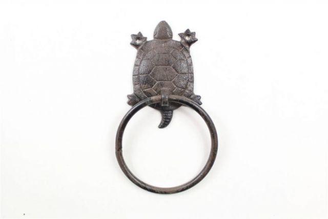 Cast Iron Decorative Turtle Towel Holder 8