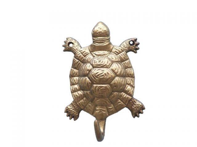 Antique Brass Turtle Hook 6