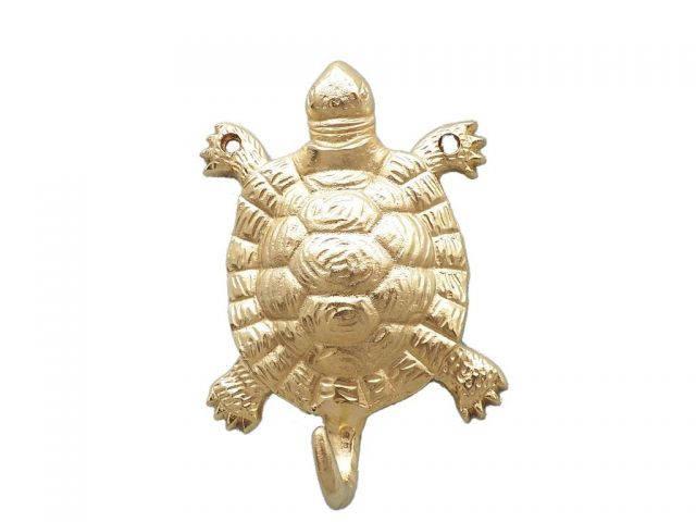 Gold Finish Turtle Hook 6
