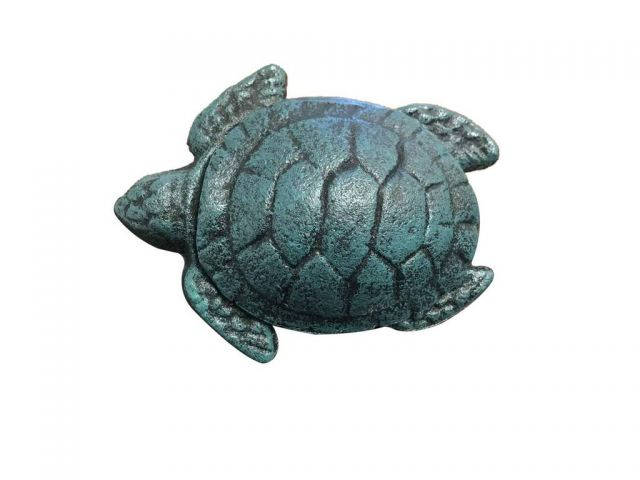 Seaworn Blue Cast Iron Decorative Turtle Bottle Opener 4