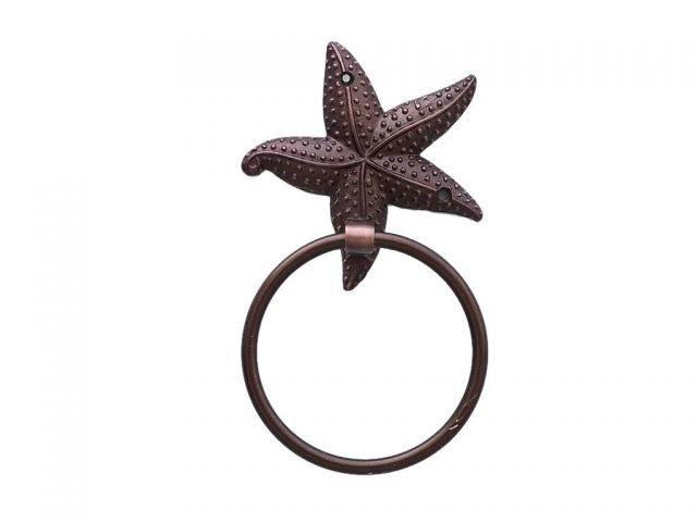 Antique Copper Starfish Towel Holder 9