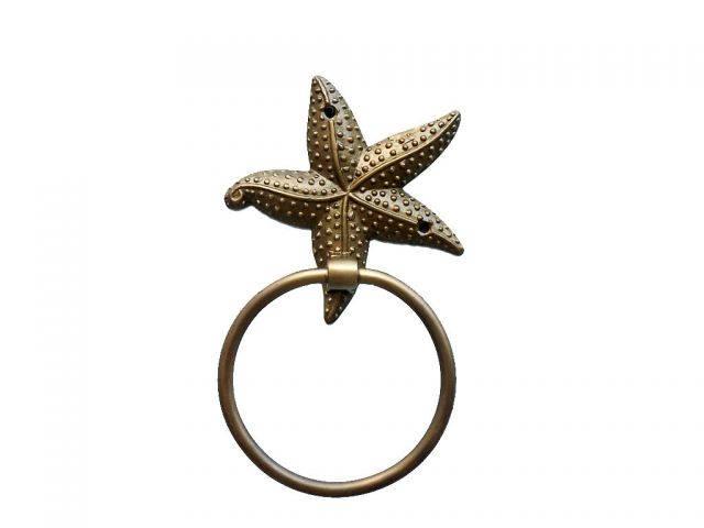 Antique Brass Starfish Towel Holder 9