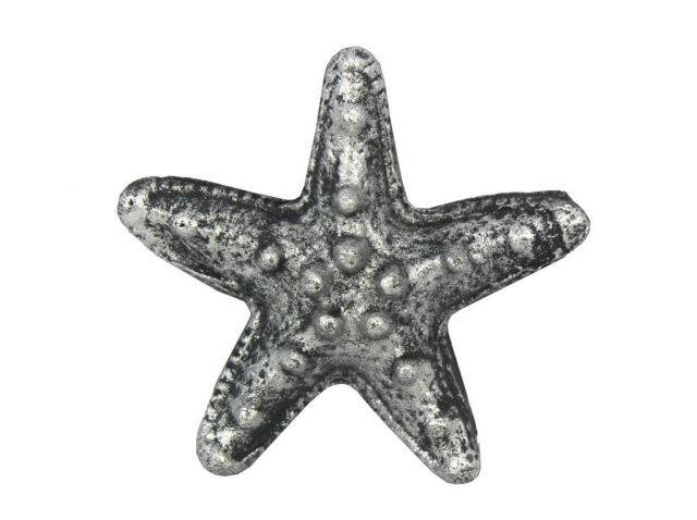 Antique Silver Cast Iron Starfish Bottle Opener 3