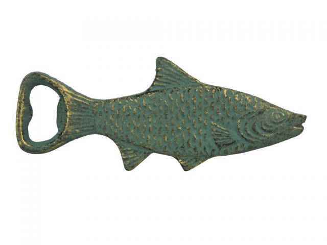 Antique Bronze Cast Iron Decorative Fish Bottle Opener 7