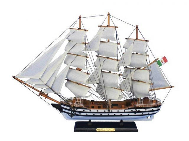 Wooden Amerigo Vespucci 24 Tall Model Ship