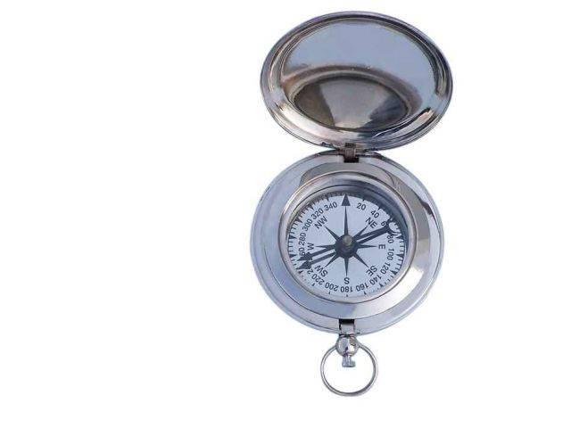 Chrome Captains Push Button Compass 3