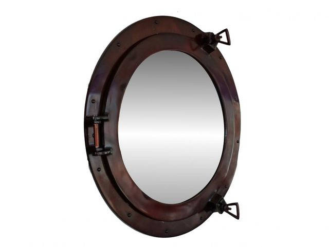 Antique Copper Decorative Ship Porthole Mirror 20