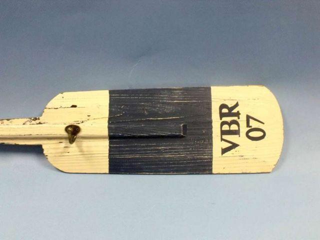 Wood Rustic Blue VBR Oar w- Hooks 55