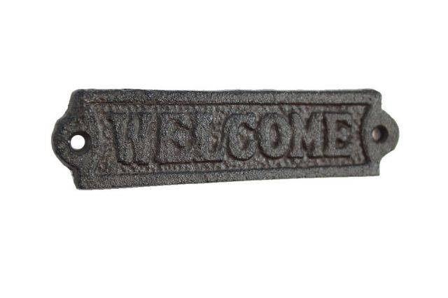 Cast Iron Welcome Sign 6