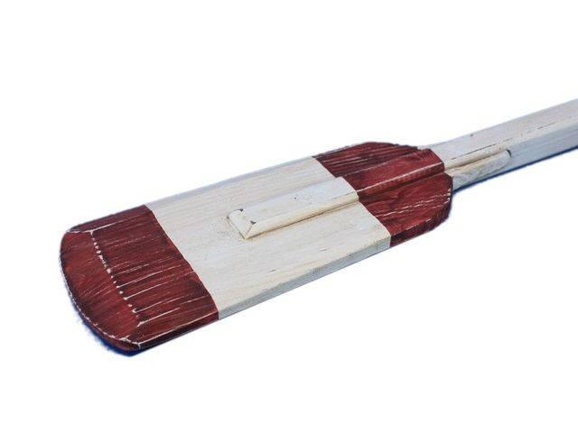 Wooden Rustic Eastern Bay Decorative Squared Rowing Boat Oar w- Hooks 36