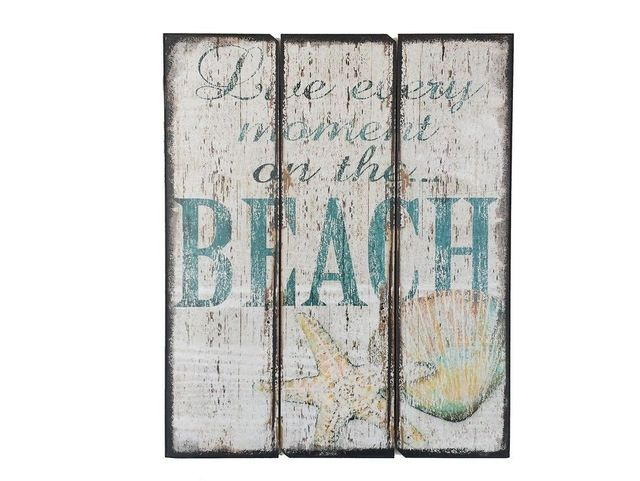 Wooden Live Every Moment At The Beach Sign 22