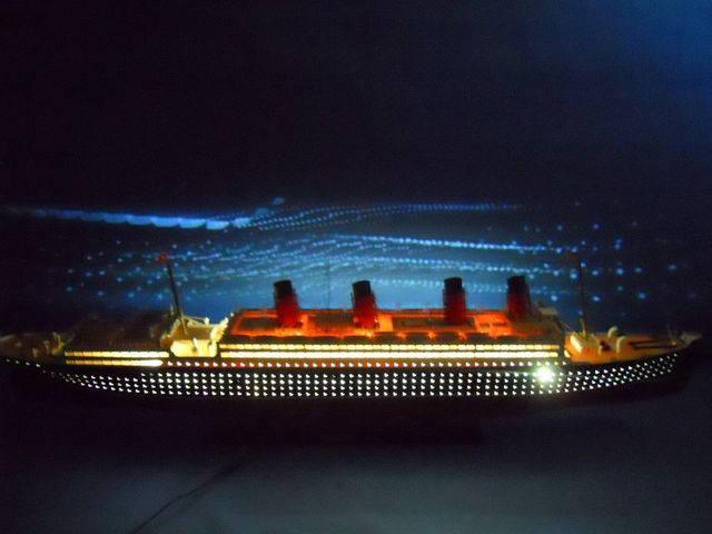 RMS Mauretania Limited 50 w- LED Lights Model Cruise Ship