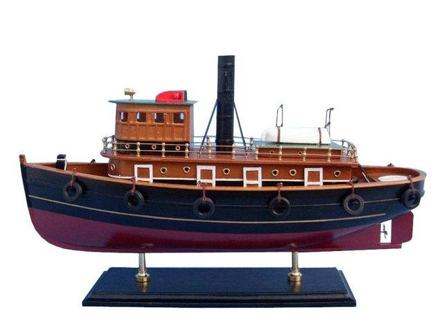 Wooden River Rat Tugboat Model