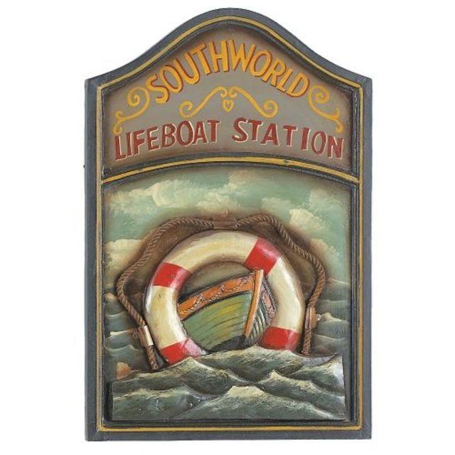 Wooden Life Boat Pub Sign 24