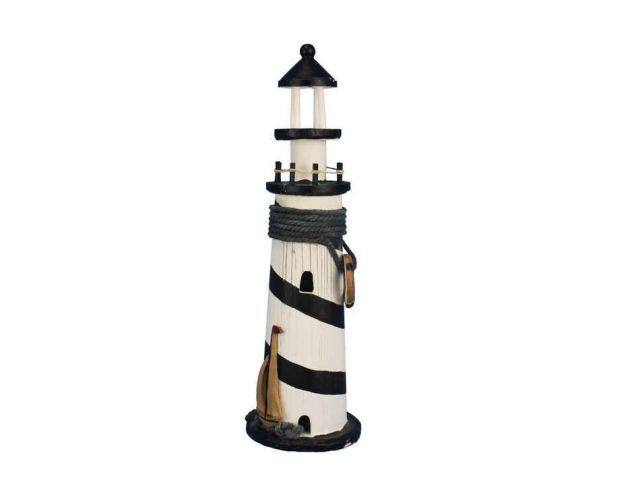 Wooden Rustic Blackstone Island Decorative Lighthouse 15