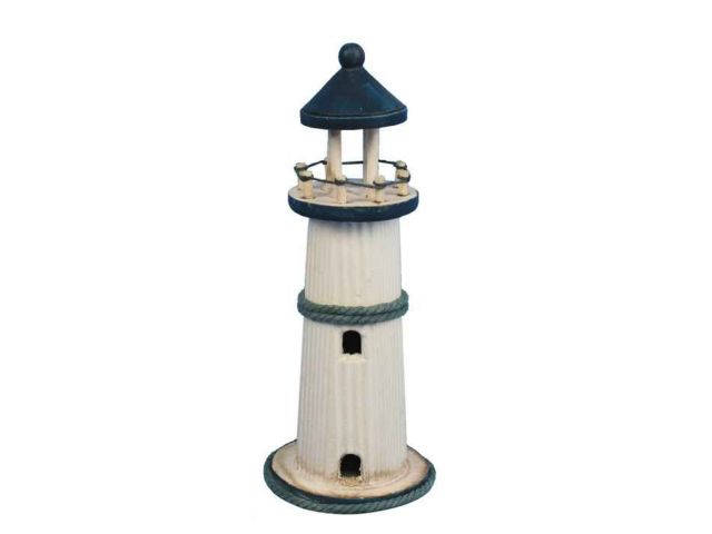 Wooden Rustic Bluestone Island Decorative Lighthouse 10