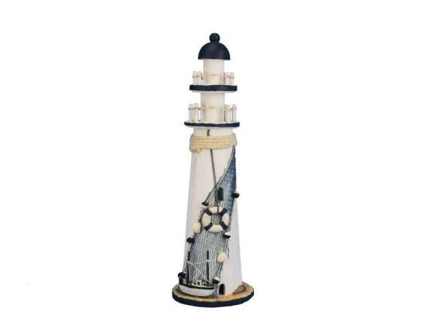 Wooden Rustic Sandy Cove Decorative Lighthouse 15