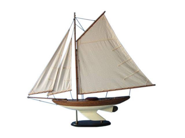 Wooden Fine Sailing Sloop Model Decoration 40
