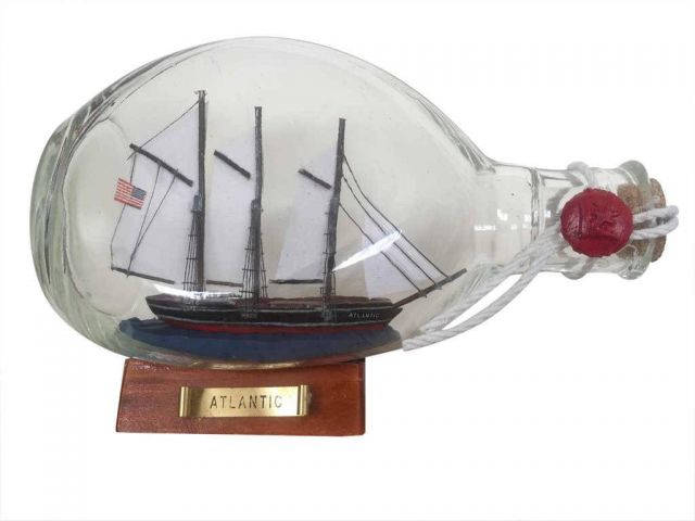 Atlantic Sailboat in a Glass Bottle 7