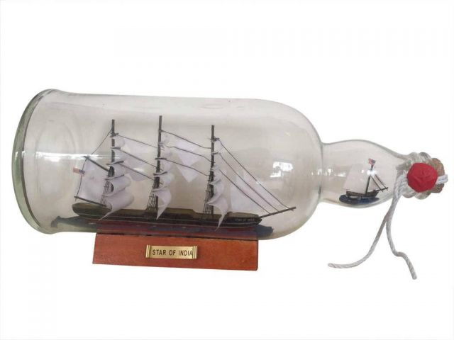 Star of India Model Ship in a Glass Bottle 11