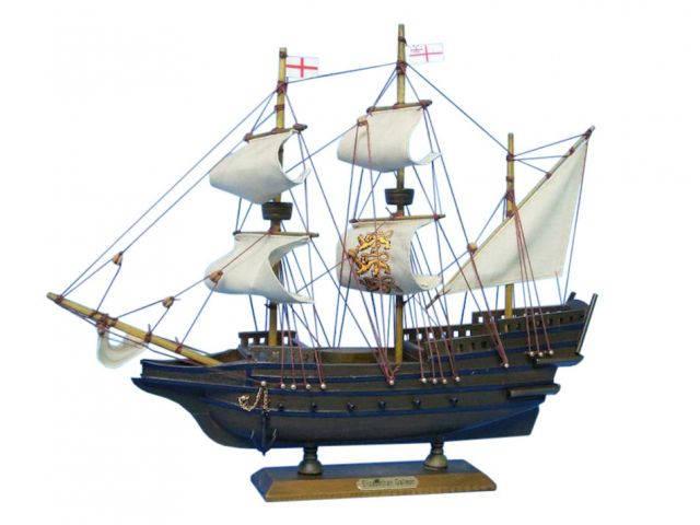 Wooden Elizabethan Galleon Tall Model Ship 14
