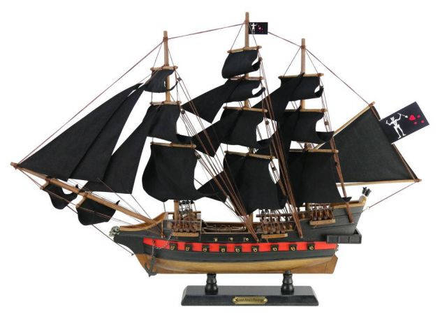 Wooden Blackbeards Queen Annes Revenge Black Sails Limited Model Pirate Ship 26