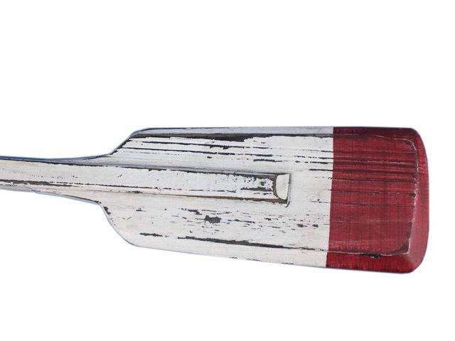 Wooden Rustic Kinsington Decorative Squared Boat Oar w- Hooks 36