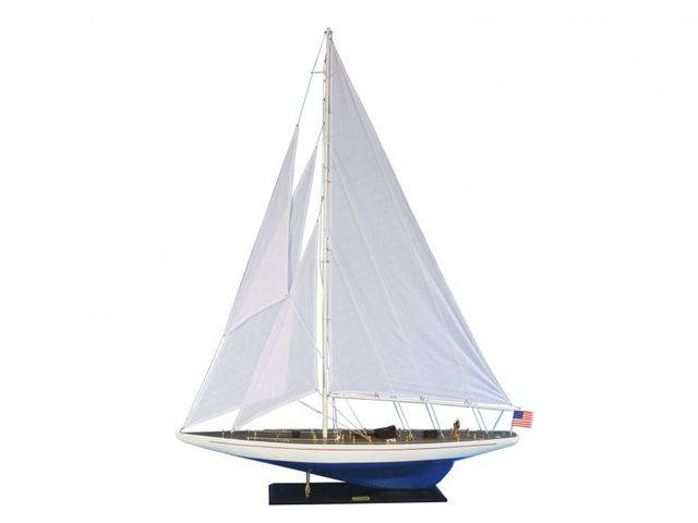 Wooden Enterprise Model Sailboat Decoration 60
