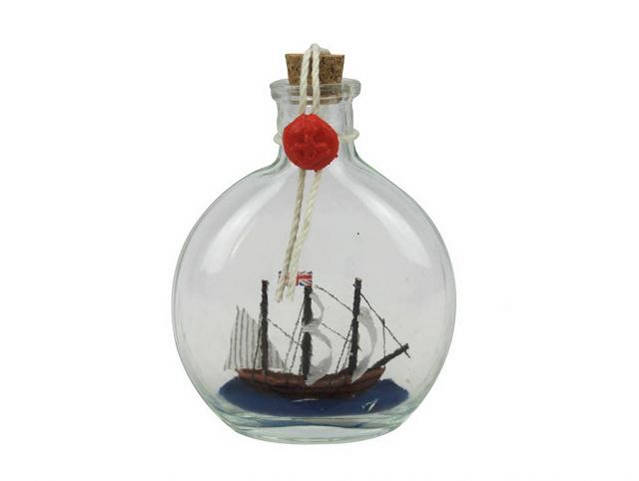 Mayflower Model Ship in a Glass Bottle 4