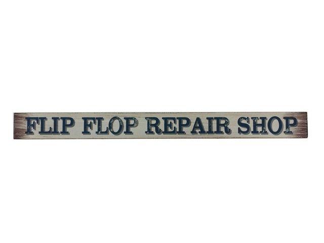 Wooden Flip Flop Repair Shop Beach Sign 18