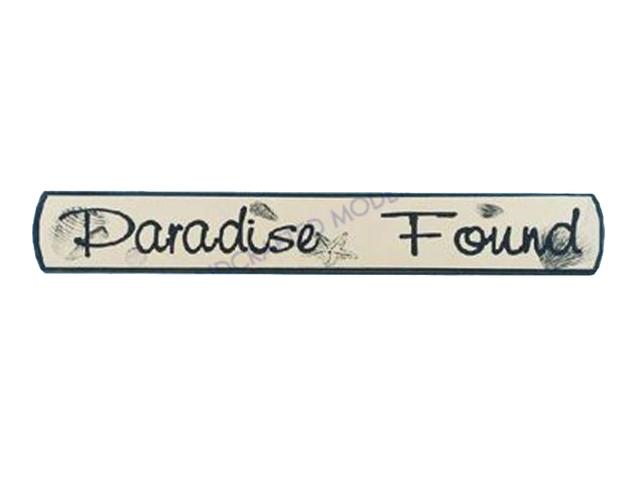 Wooden Paradise Found Nautical Plaque 18