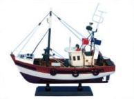 Wooden Stars and Stripes Model Fishing Boat 14