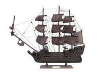 Wooden Flying Dutchman Model Pirate Ship 20