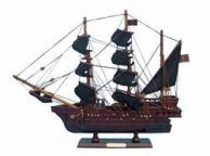 Wooden Ed Lows Rose Pink Model Pirate Ship 14