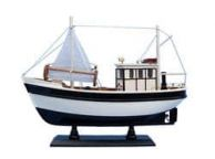 Wooden Mr. Shrimp Model Fishing Boat 16