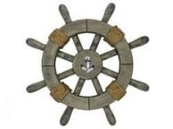 Rustic Decorative Ship Wheel With Anchor 12