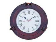 Antique Copper Deluxe Class Porthole Clock 12