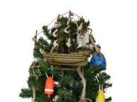 Wooden Sovereign of the Seas Model Ship Christmas Tree Topper Decoration