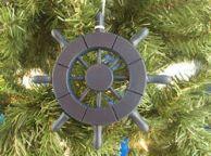 Dark Blue Decorative Ship Wheel Christmas Tree Ornament 6